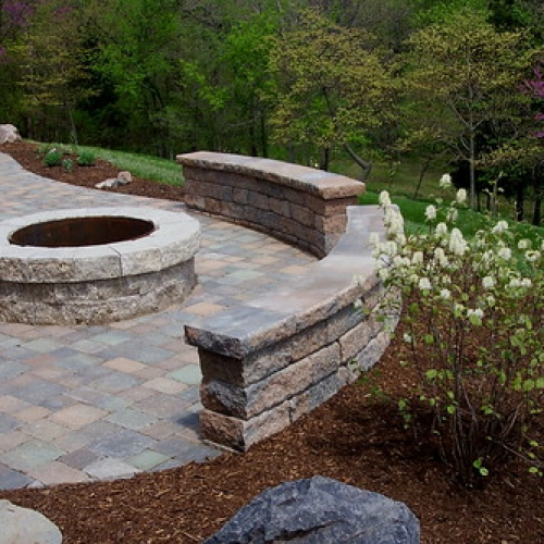 "Paver Patio - Fire Pit - Bench Wall • <a style=""font-size:0.8em;"" href=""http://www.flickr.com/photos/63612657@N05/5808028655/"" target=""_blank"">View on Flickr</a>"
