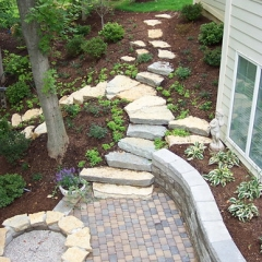 "Paver Patio - Fire Pit - Ledge Steps • <a style=""font-size:0.8em;"" href=""http://www.flickr.com/photos/63612657@N05/5808603422/"" target=""_blank"">View on Flickr</a>"