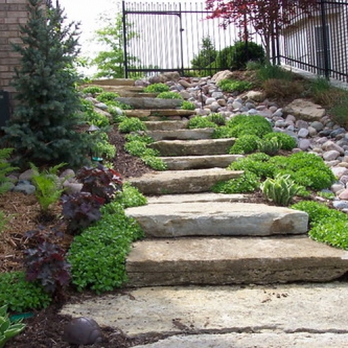 "Ledge Steps / Stone Walk / Dry Creek • <a style=""font-size:0.8em;"" href=""http://www.flickr.com/photos/63612657@N05/7017561563/"" target=""_blank"">View on Flickr</a>"
