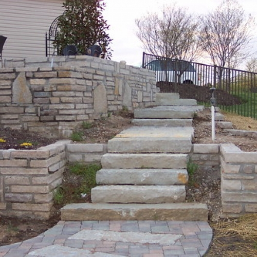 "Stone Wall / Stone Ledge Steps / Paver Walkway • <a style=""font-size:0.8em;"" href=""http://www.flickr.com/photos/63612657@N05/6871408556/"" target=""_blank"">View on Flickr</a>"