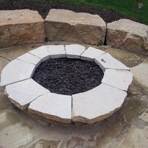 "Stone Firepit, Sitting Wall, Stone Patio • <a style=""font-size:0.8em;"" href=""http://www.flickr.com/photos/63612657@N05/7268806162/"" target=""_blank"">View on Flickr</a>"