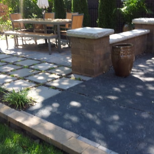 "Bench Wall with Columns, Paver Patio • <a style=""font-size:0.8em;"" href=""http://www.flickr.com/photos/63612657@N05/8312182370/"" target=""_blank"">View on Flickr</a>"
