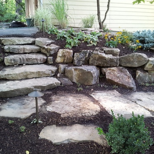 "Ledsteps with Stone Pathway and Landscape Lighting • <a style=""font-size:0.8em;"" href=""http://www.flickr.com/photos/63612657@N05/8012250780/"" target=""_blank"">View on Flickr</a>"