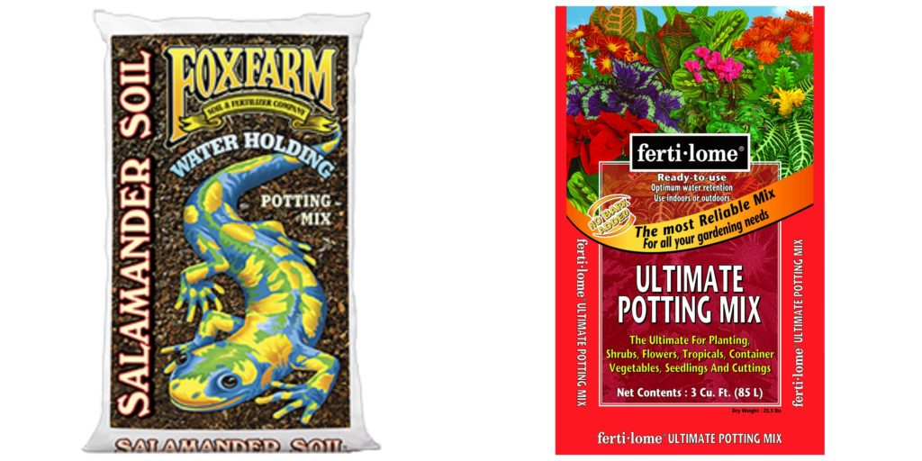 FoxFarm Salamander Soil and Fertilome Ultimate Potting Mix